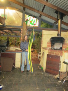 Barb with tall agave leaf
