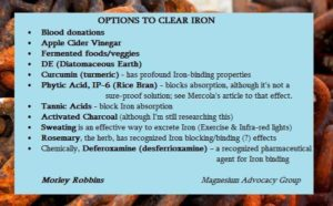 options to clear iron
